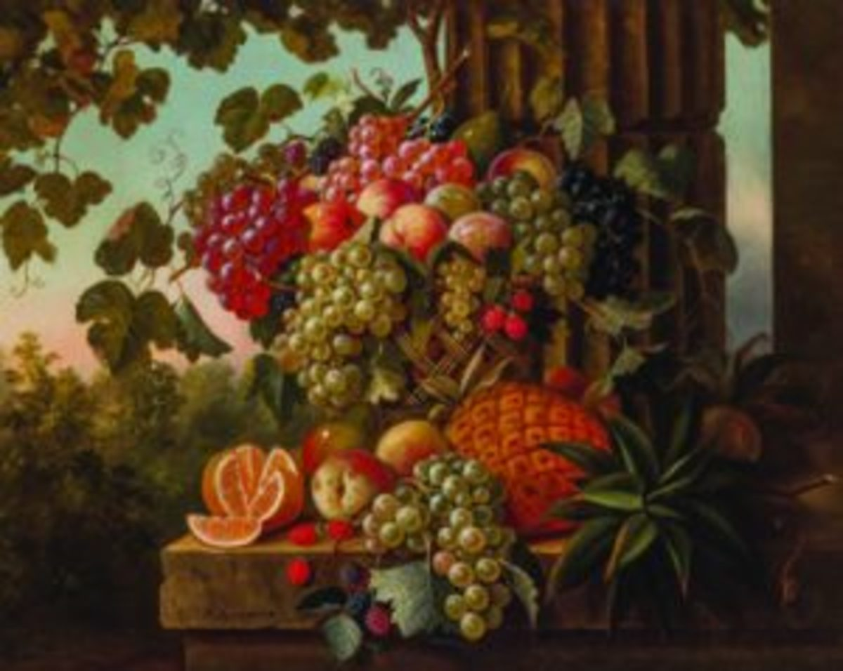 Paul Lacroix still life with pineapple
