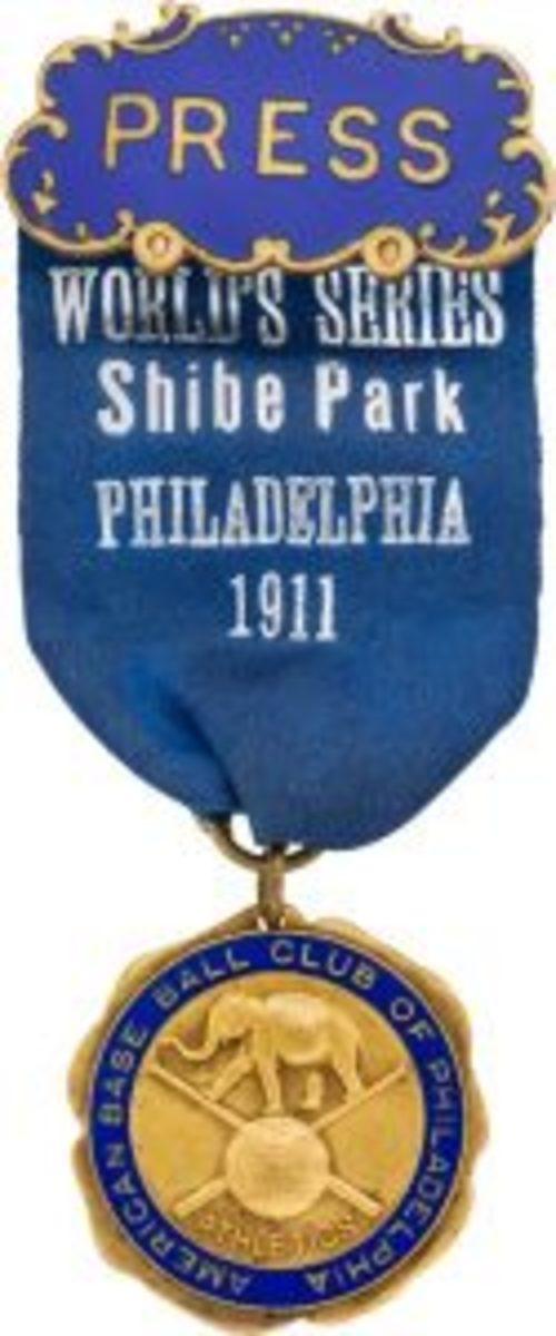 World Series Press Pin