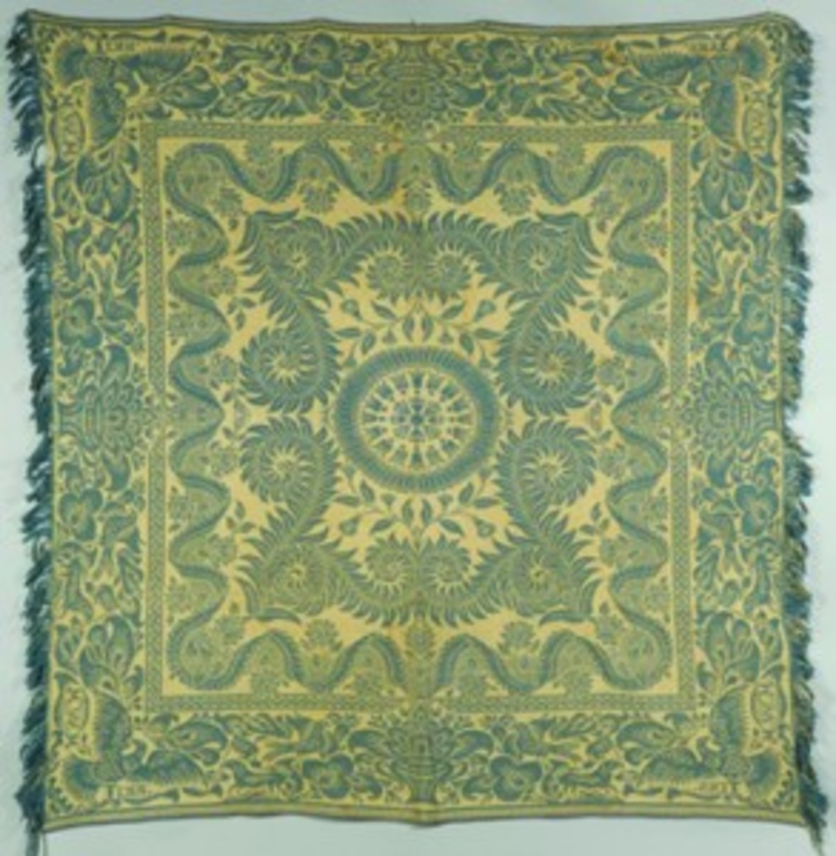 Teal coverlet