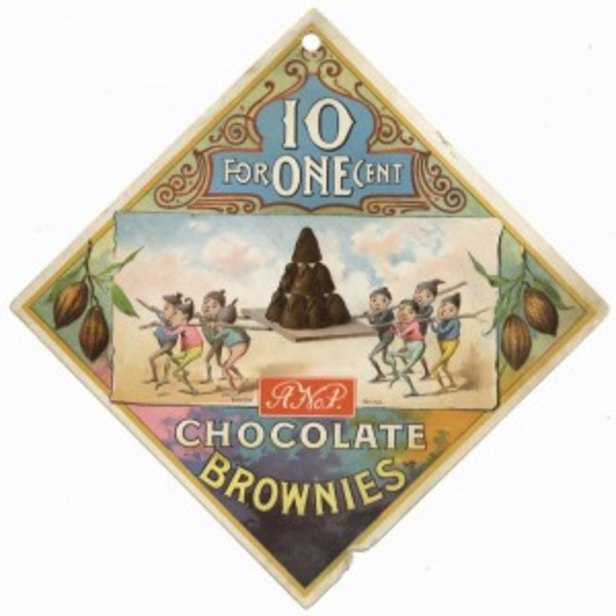 Chocolate Brownie Advertising Candy Sign (800x799)
