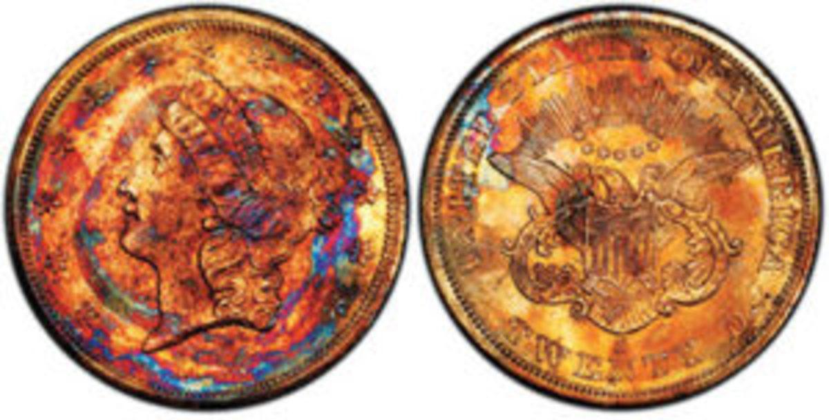 Supernova Gold Rush Shipwreck Double Eagle, $282,000. Photo courtesy of Professional Coin Grading Service, www.PCGS.com.