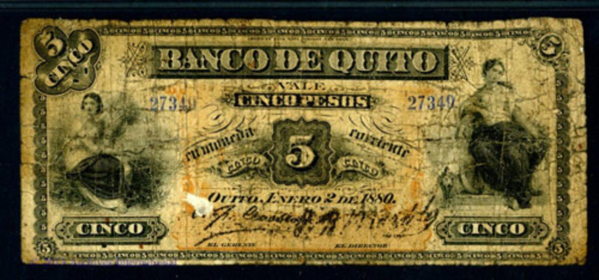 Ecuador Banco note