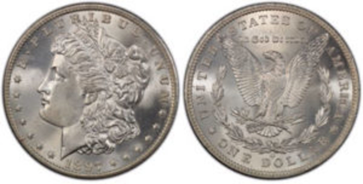 This 1897 silver dollar struck at the New Orleans Mint, graded PCGS MS 66, sold for $262,500 in 2018, an increase of more than 140 percent over its last sale in 2015. (Photo credit: Professional Coin Grading Service www.PCGS.com.)