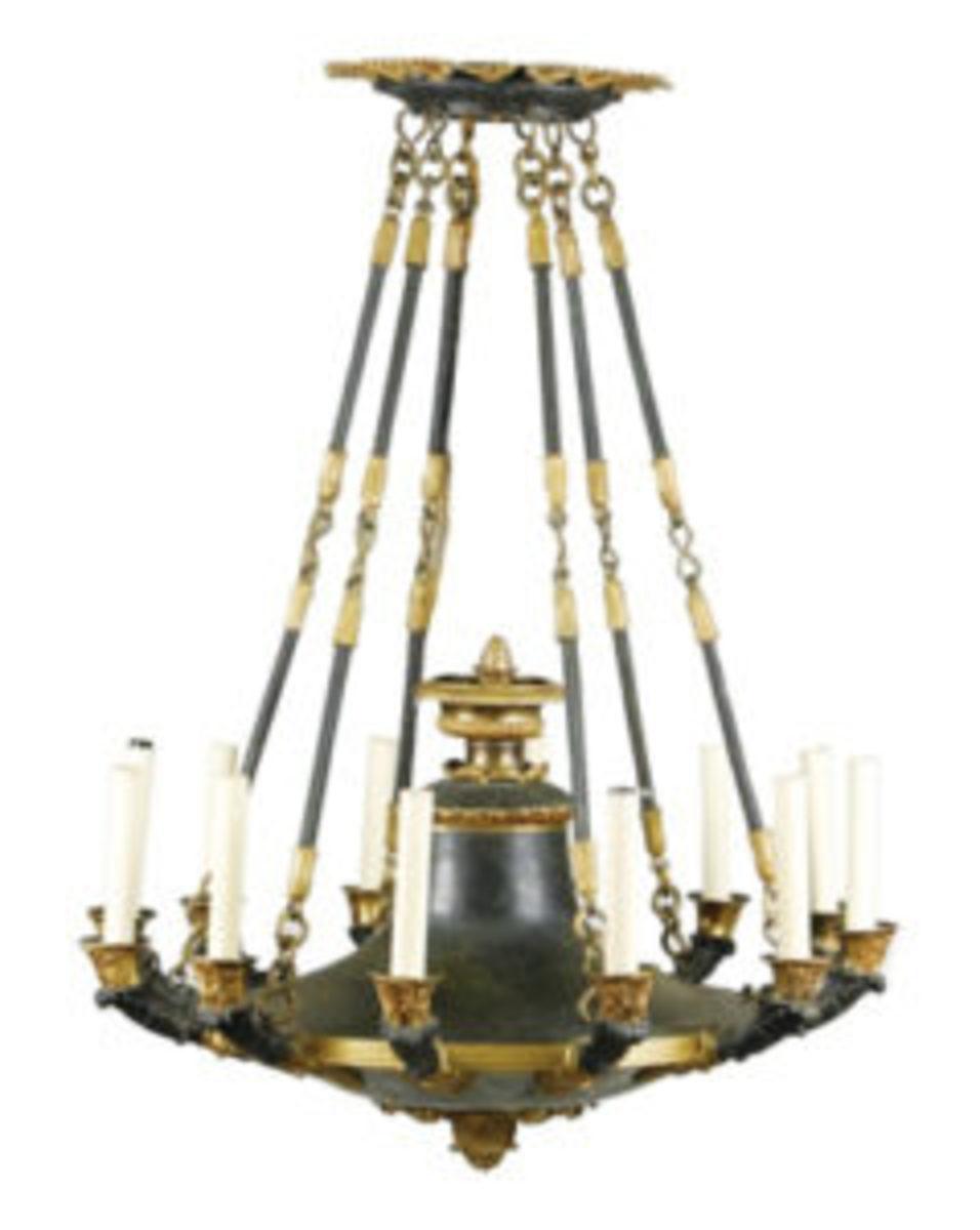 Toleware chandelier