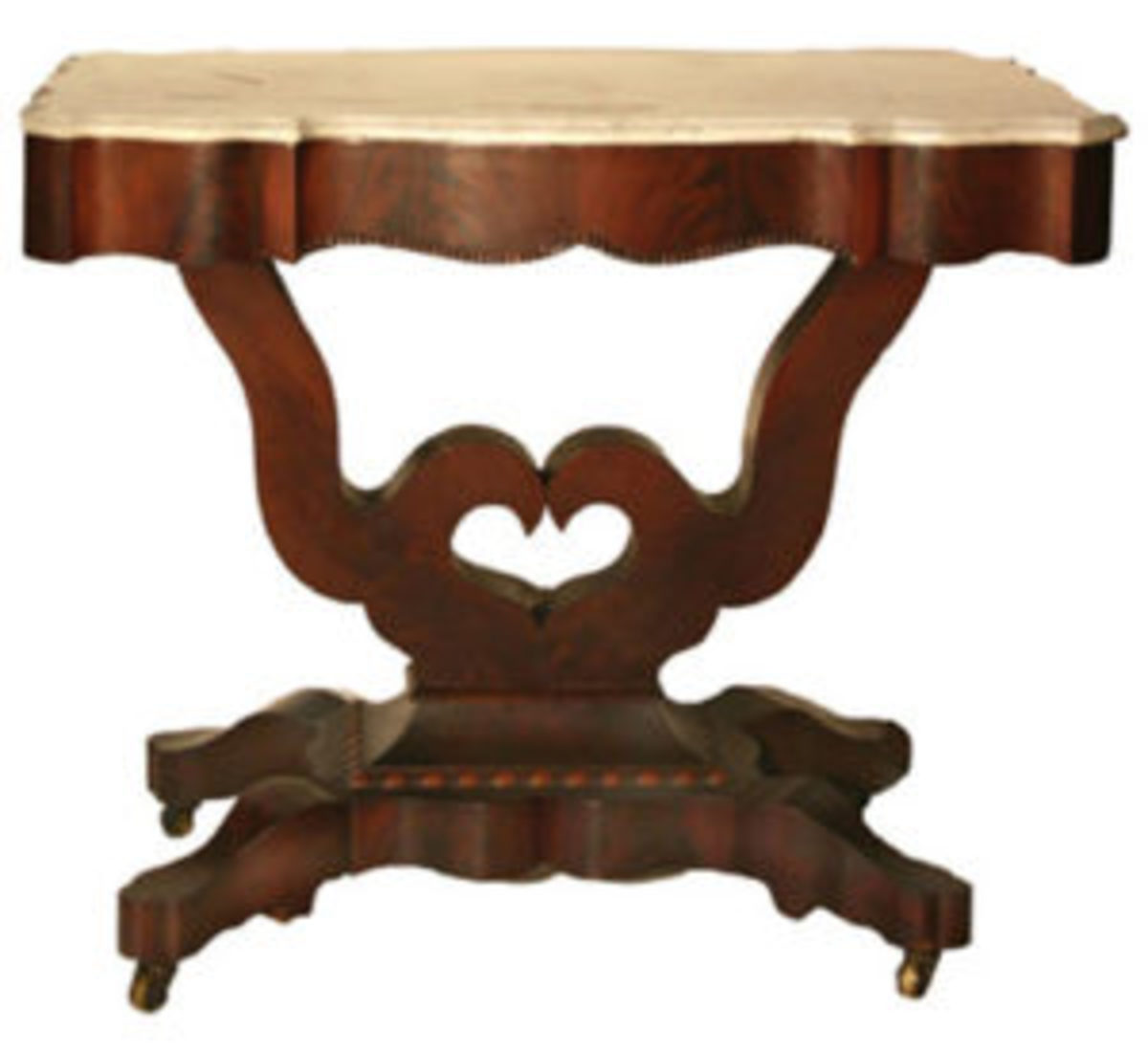 marble top mahogany parlor table