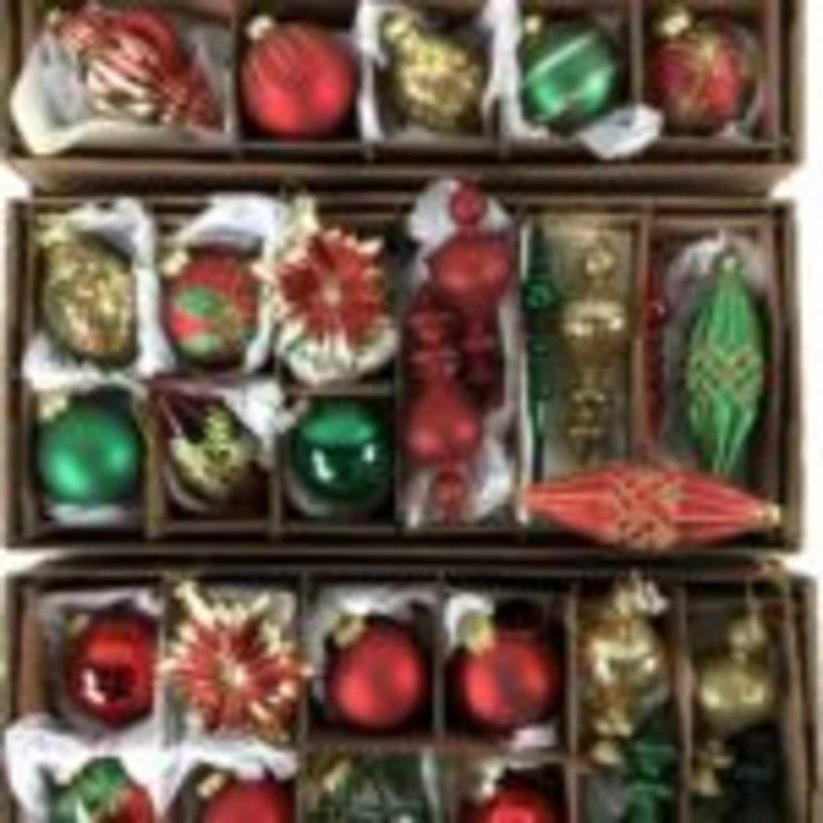 Vintage glass Christmas ornaments offered in the Nov. 10 estate auction hosted by EJ's Auction