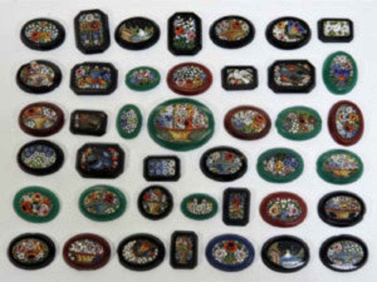Italian micromosaic plaques