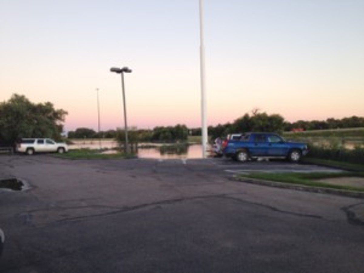 Flooded lot
