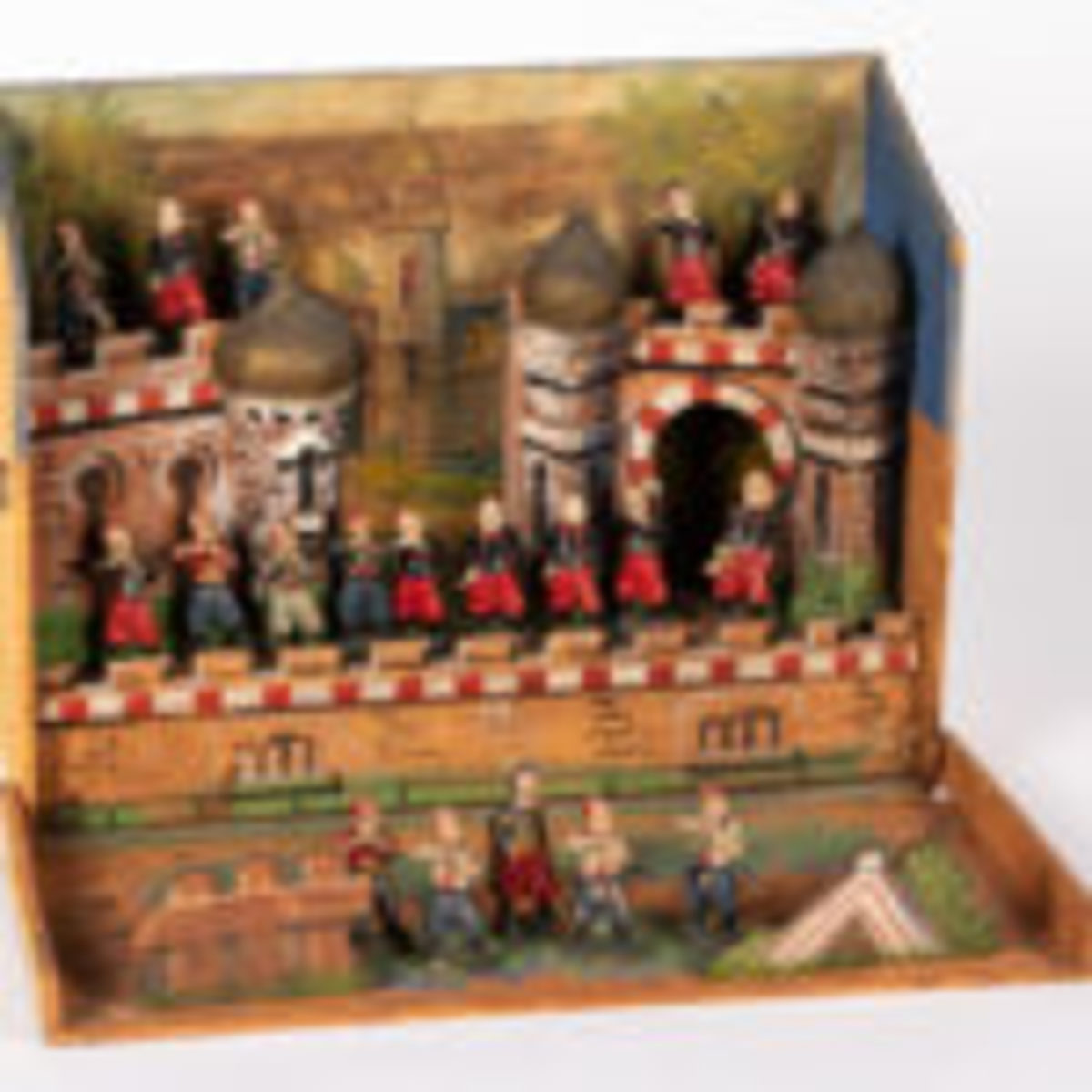 Lot 1575 - Painted wood North African fortress ($300-$400)
