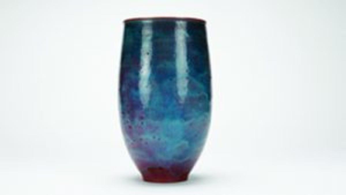 Natzler pottery vase