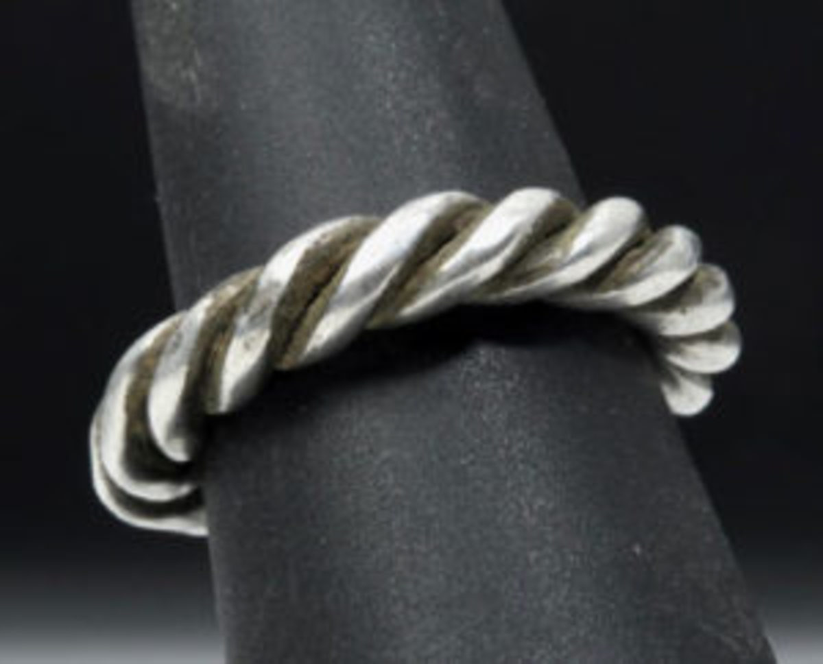 Viking twisted silver ring
