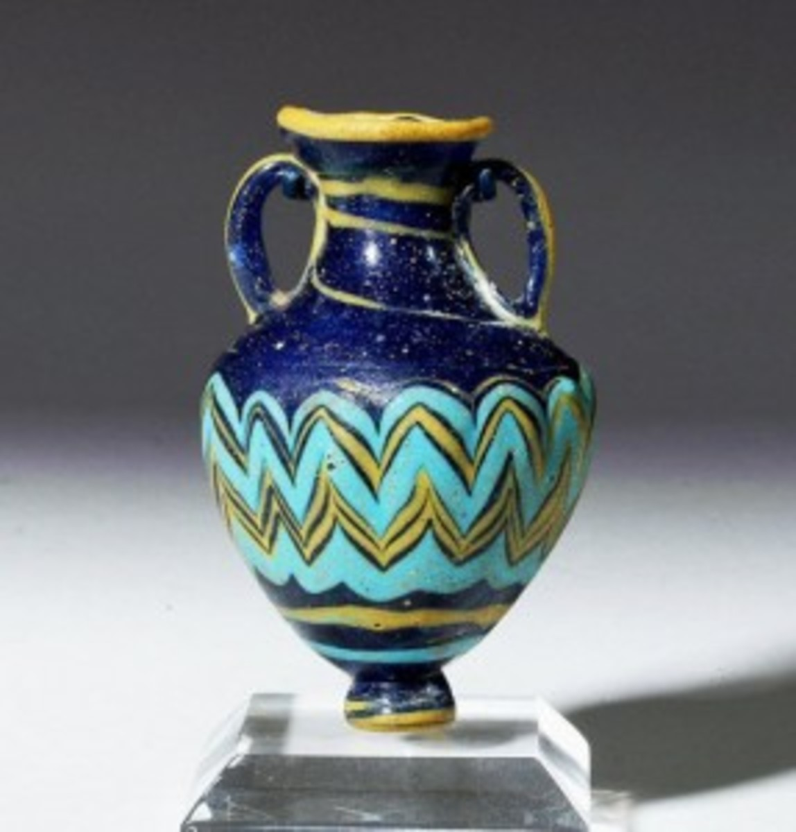 Greek core-form glass amphoriskos