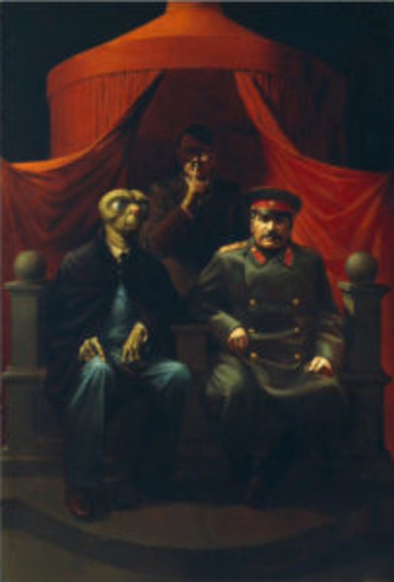 Russian satirical painting Komar and Melamid