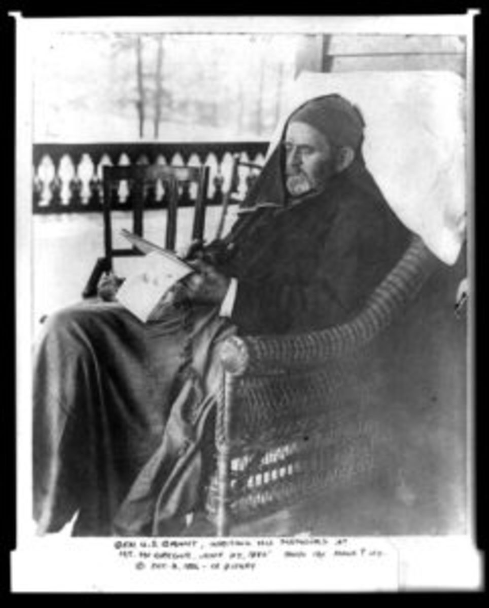 Gen. Ulysses S. Grant writing memoirs