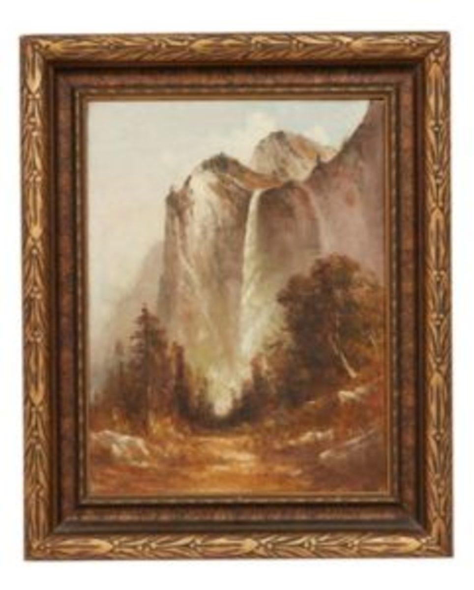Waterfall in Yosemite Valley