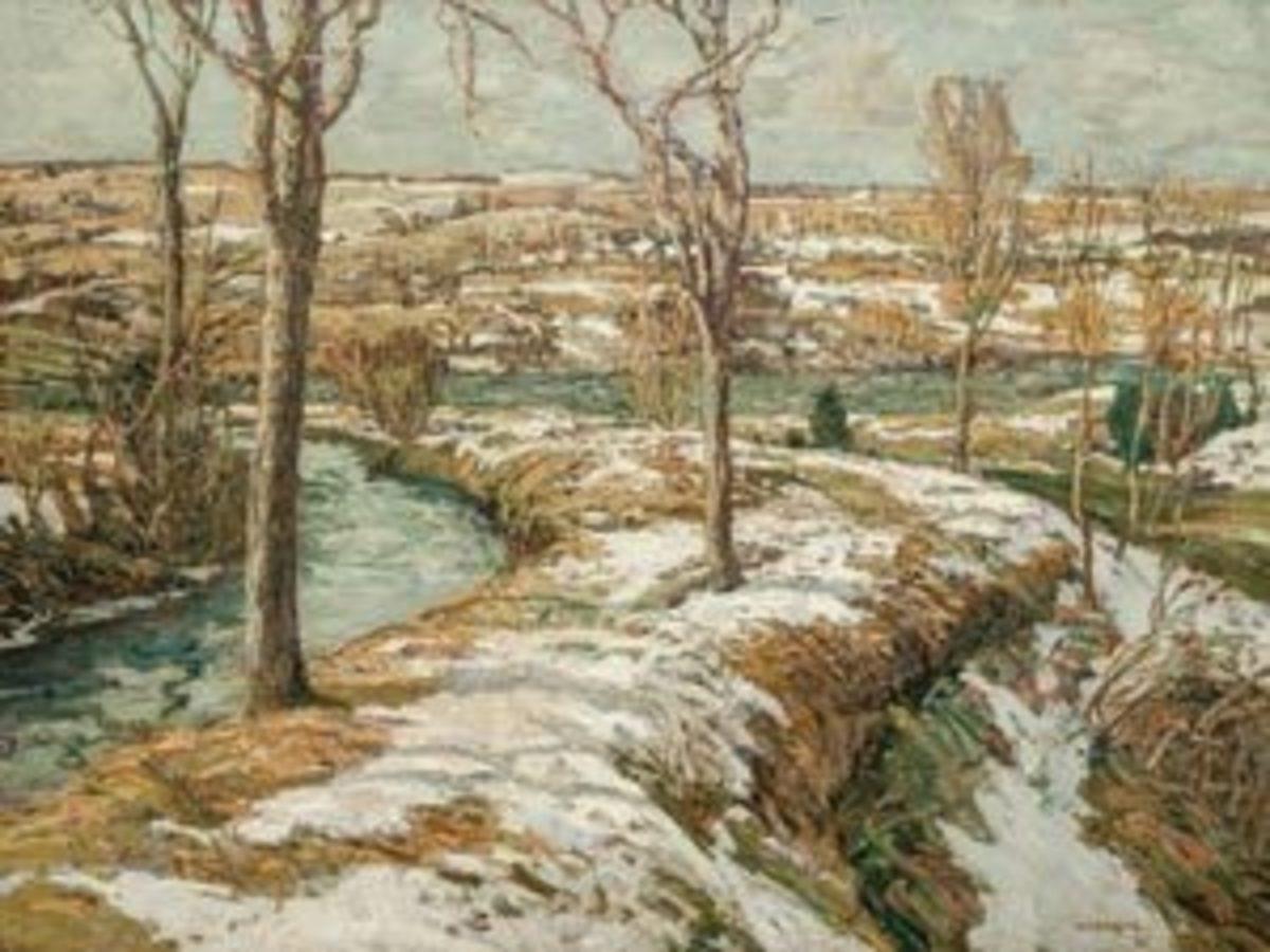 Walter Elmer Schofield, American (1867-1944), Winter Landscape