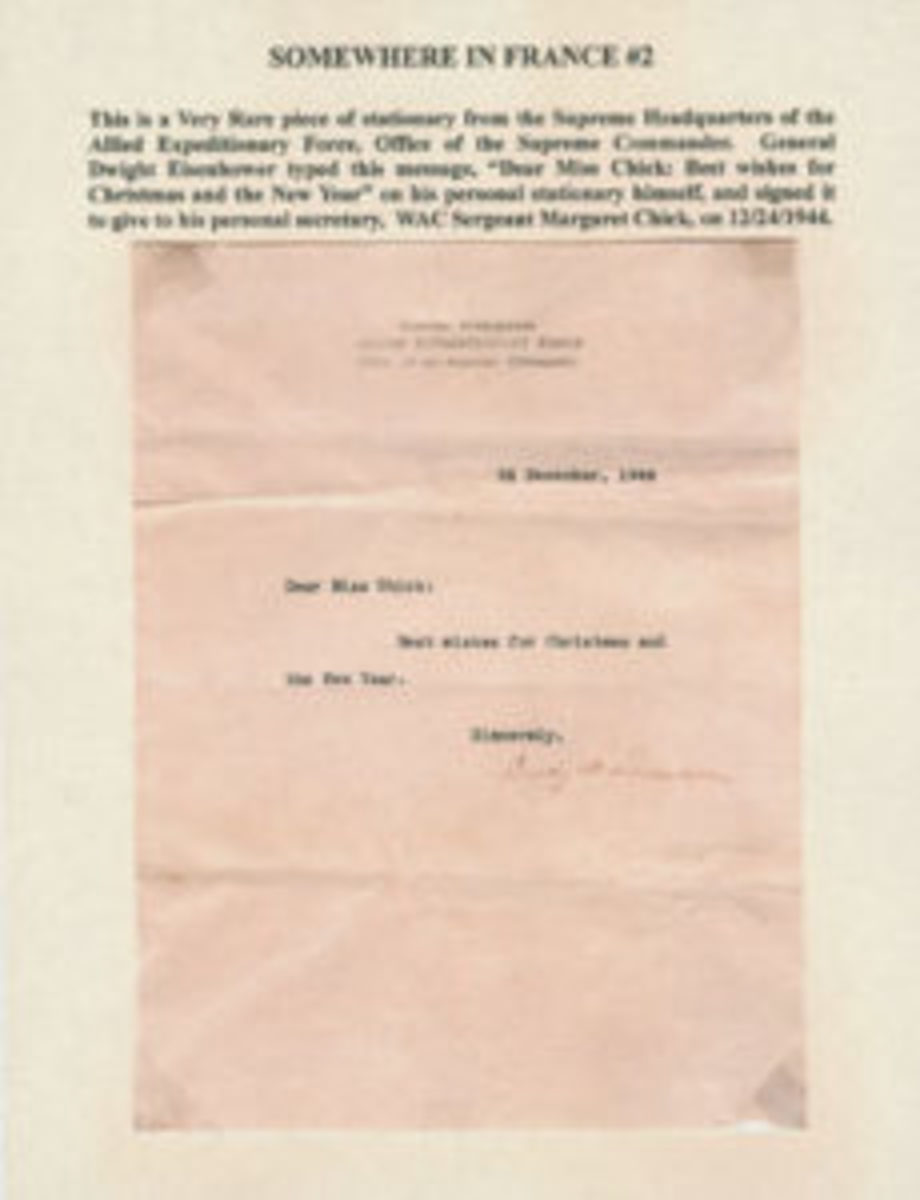 Letter from Gen. Dwight Eisenhower