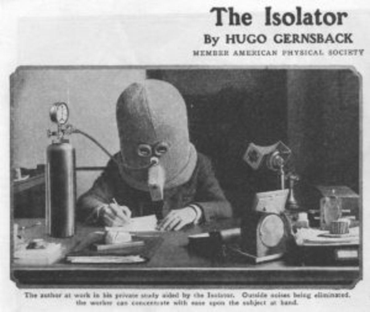 The Isolator Helmet by Hugo Gernsback