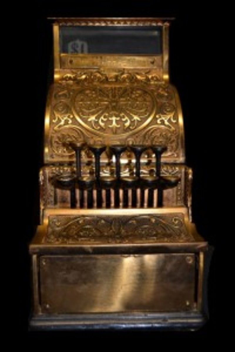 Late 19th century National Cash Register.