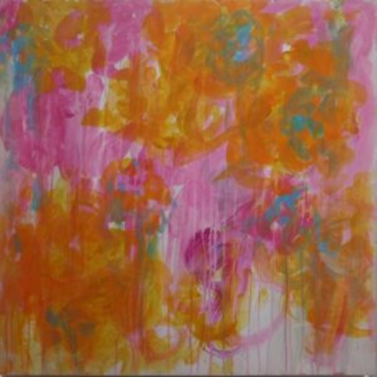 Twombly floral abstract
