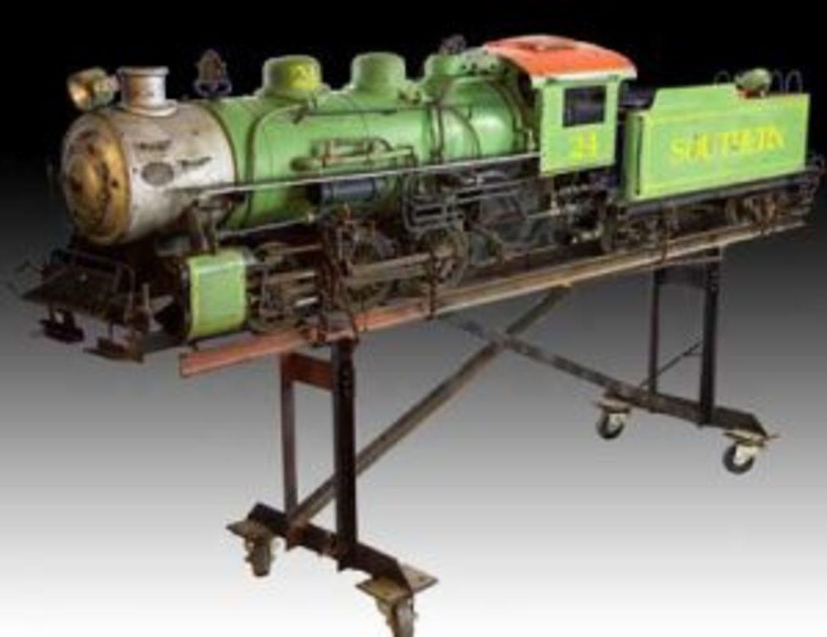 live steam model train