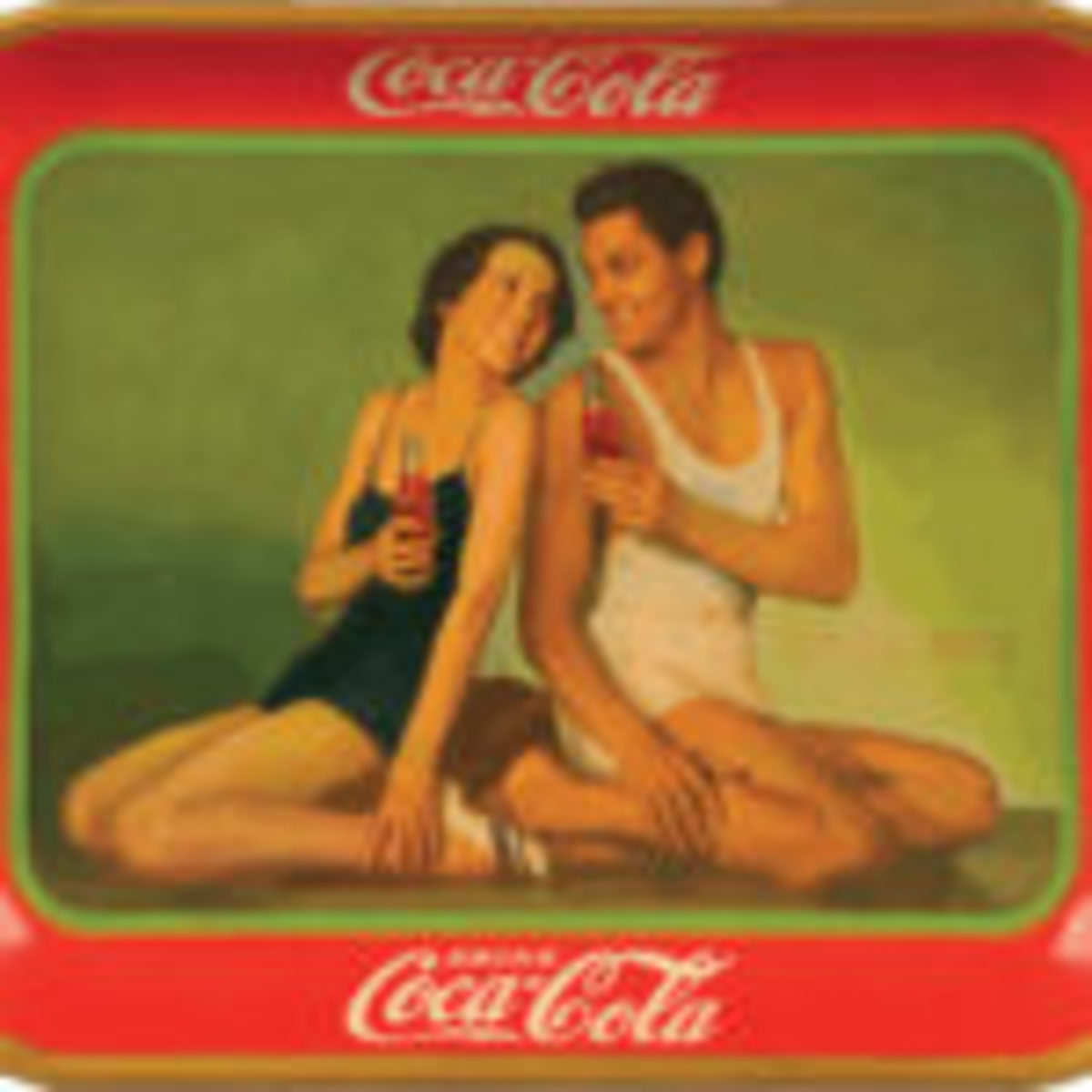 Figure 3: Original Coca-Cola tray. From the Martin Guide to Coca-Cola Memorabilia (used with permission).