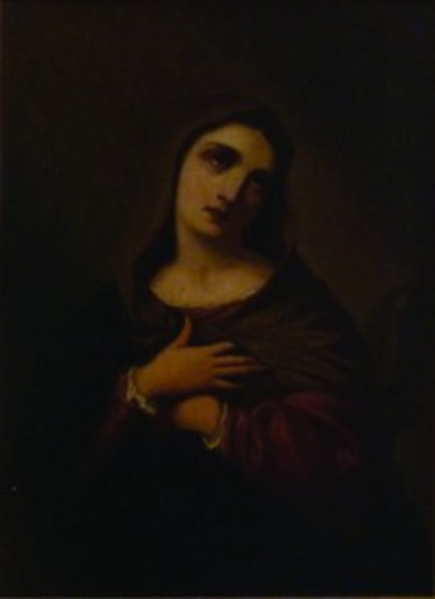 Madonna oil painting