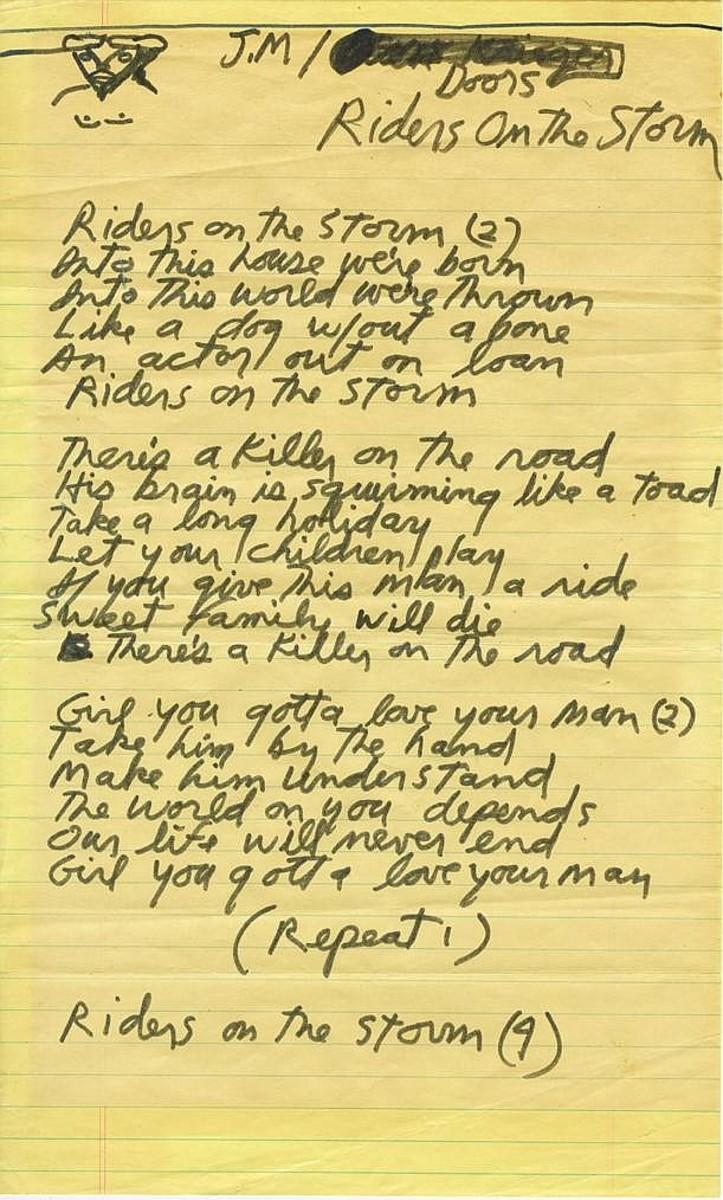 Riders on the storm lyrics