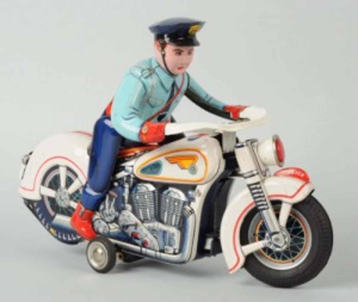 tin motorcycle toy