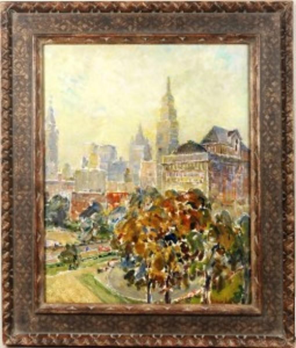 1712011 George Luks Gramercy Park 1932