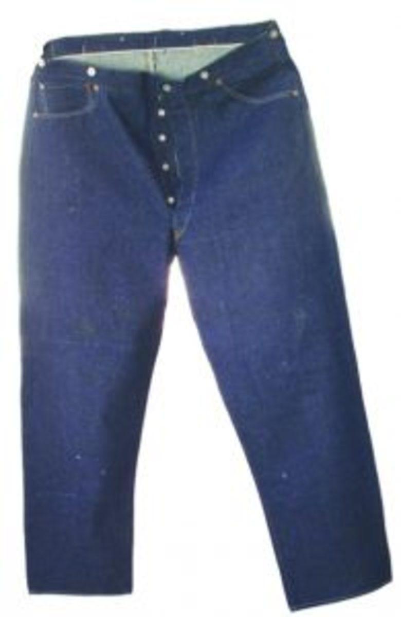 19th century Levi denim overalls
