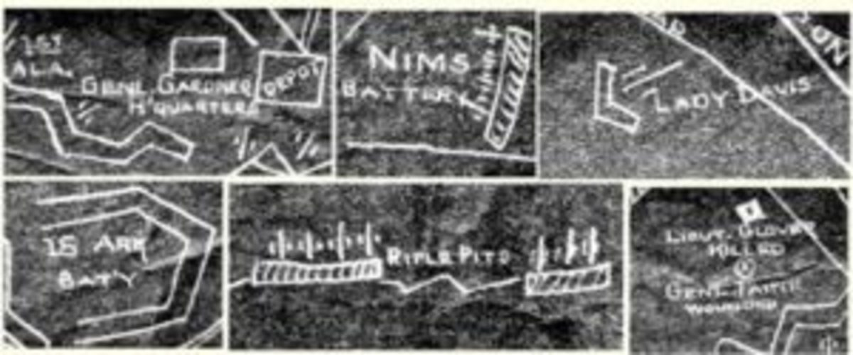 Port Hudson Civil War fort blueprint