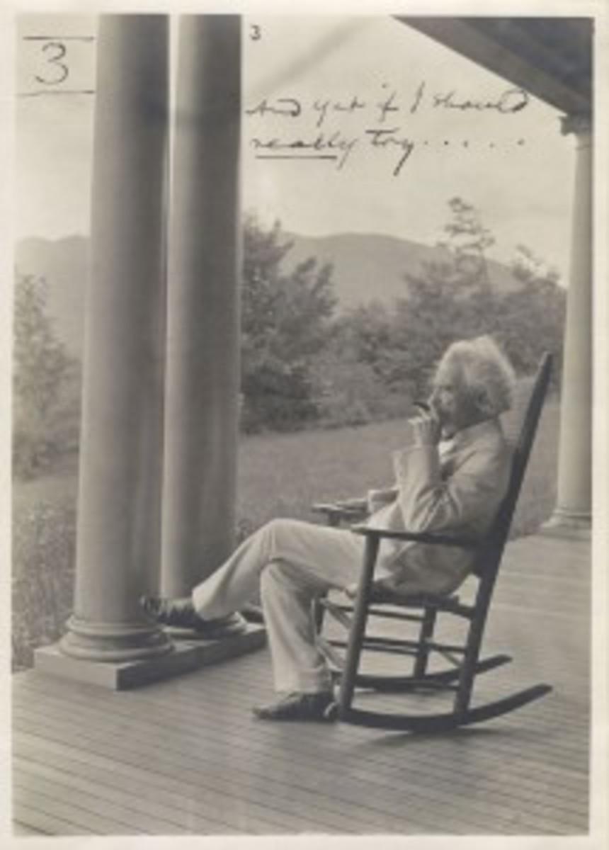 Mark Twain and rocker