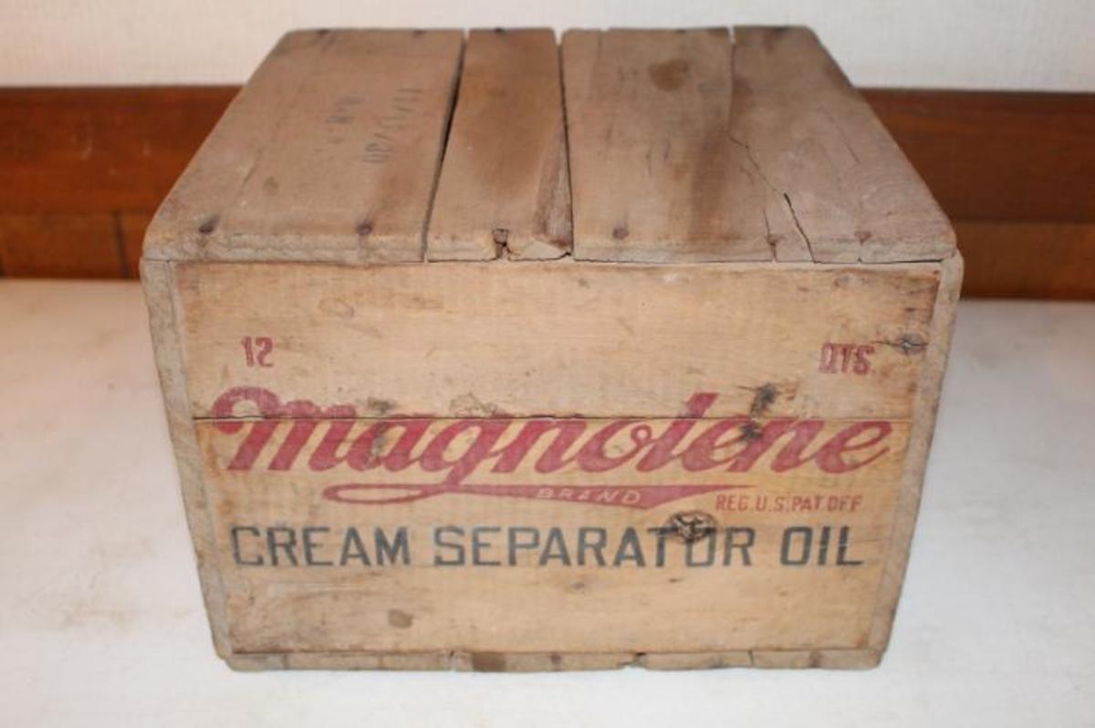 Magnolene cream separator oil crate
