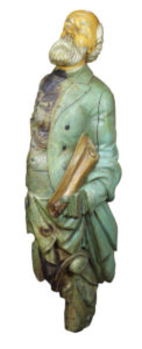 carved ship's figurehead