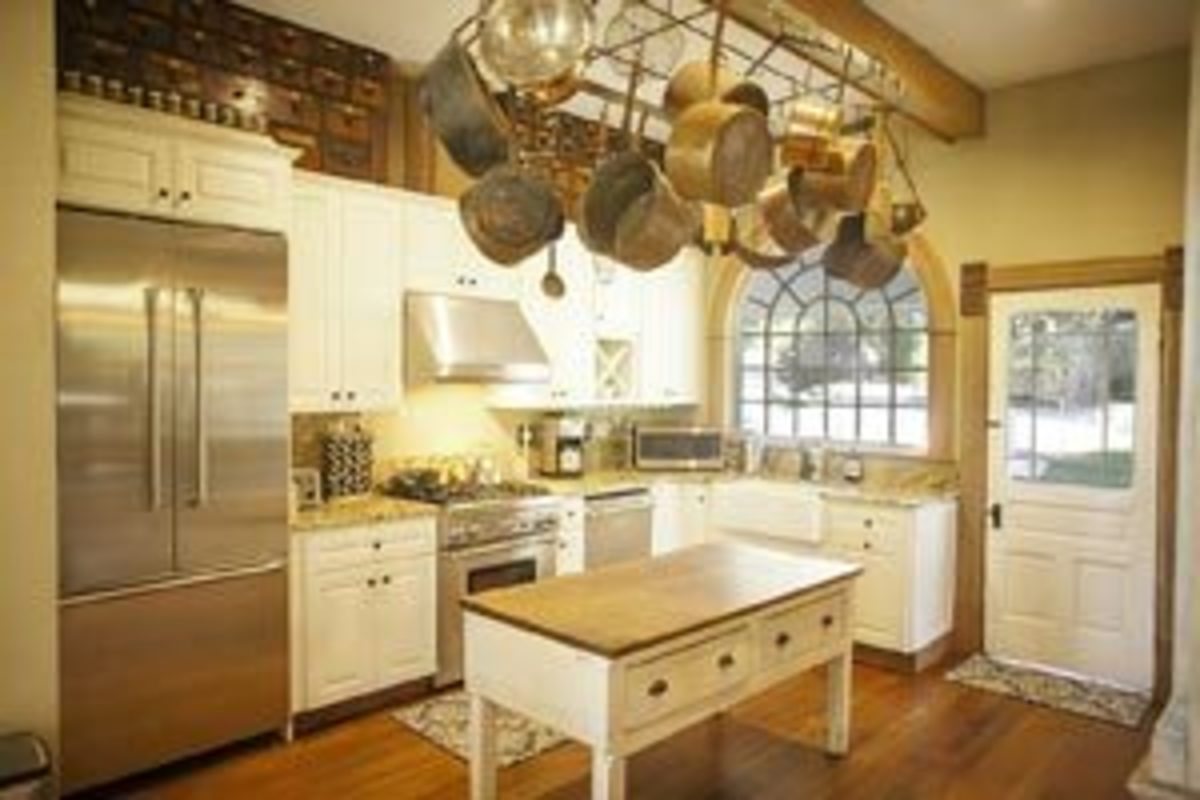 The kitchen in the Grand Victorian at Triple S Ranch.
