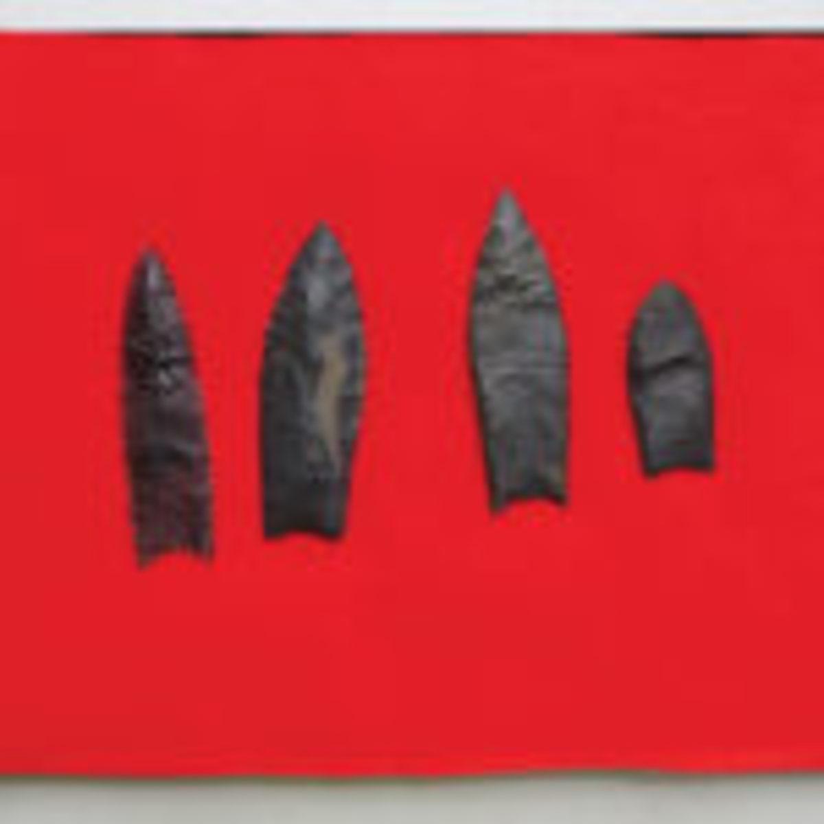 Cache of Clovis arrowheads