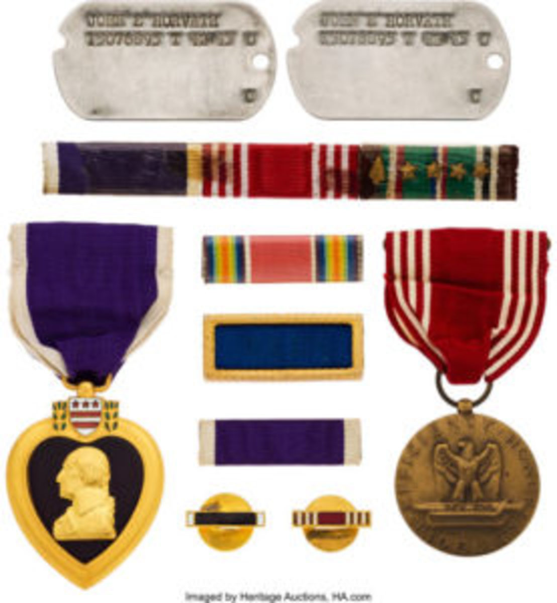 Horvath's military medals.
