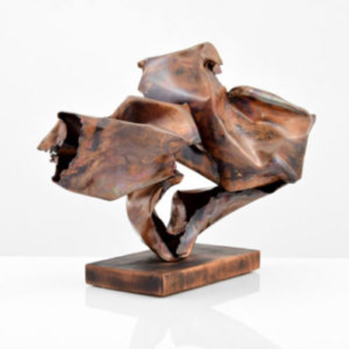 Steel coppered sculpture