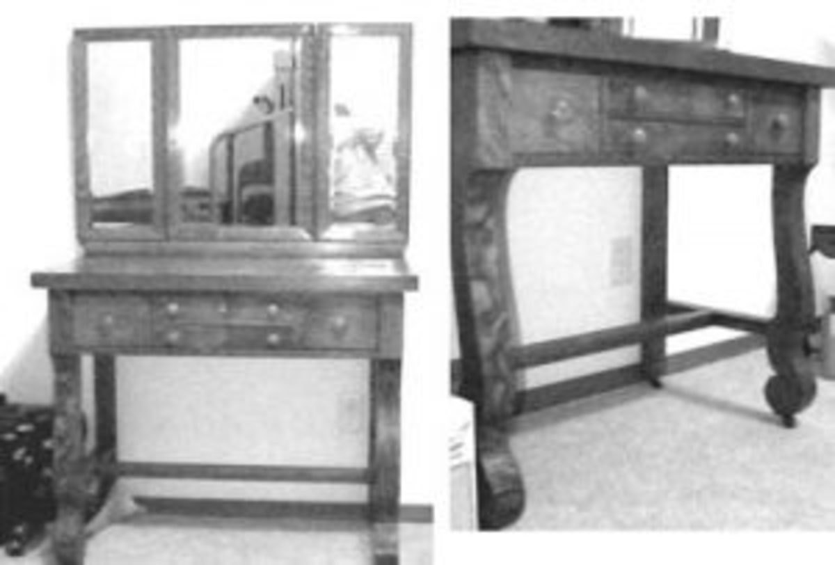 Vanity In Empire Revival Style Probably Dates To 1920s Antique Trader