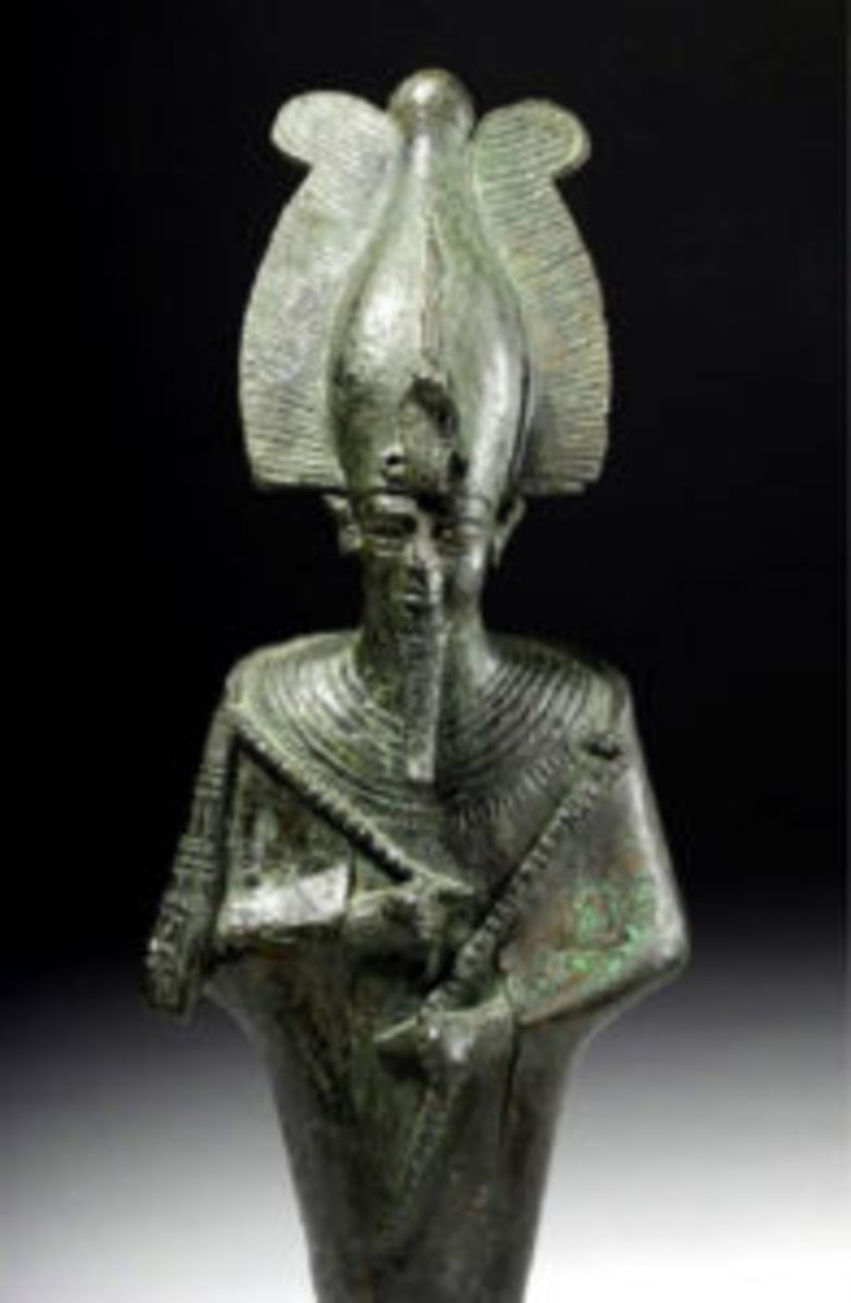 Bronze Osiris statue