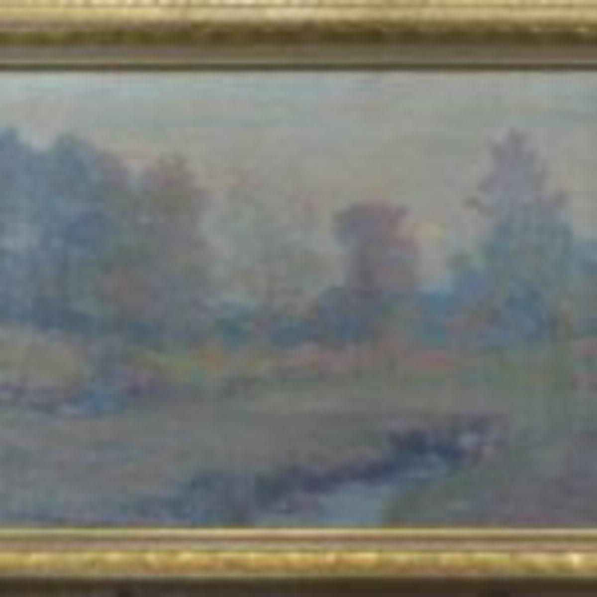 Oil on canvas by Robert William Vonnoh