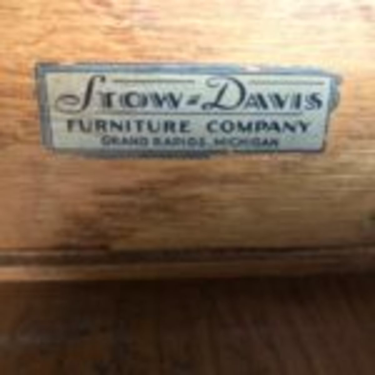 Stow & Davis desk submitted for appraisal