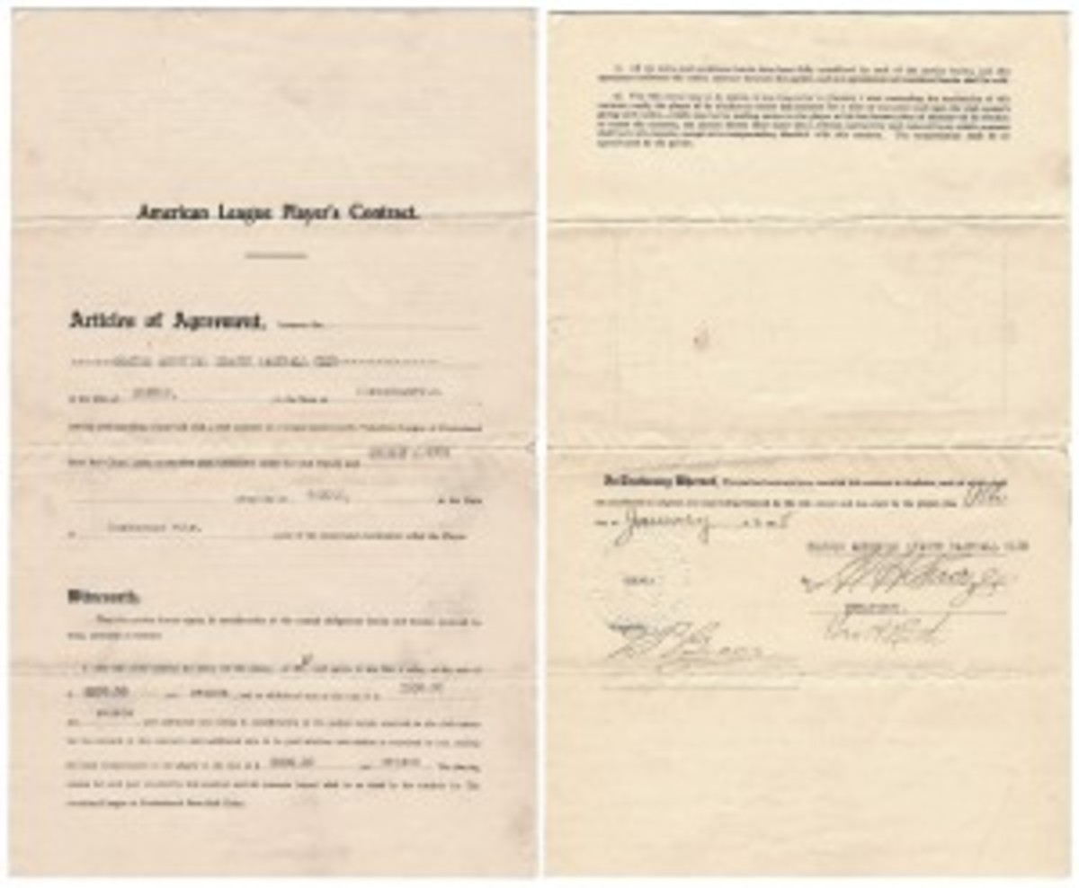 Babe Ruth Sox Contract