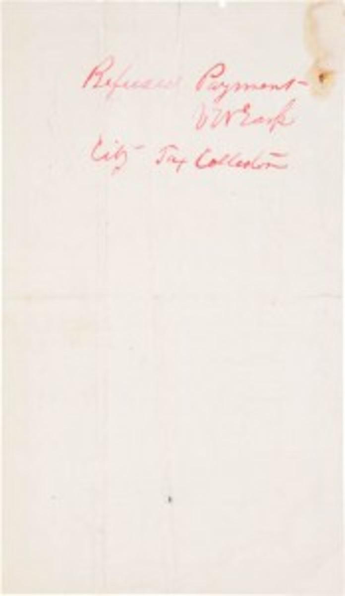 Virgil Earp signature