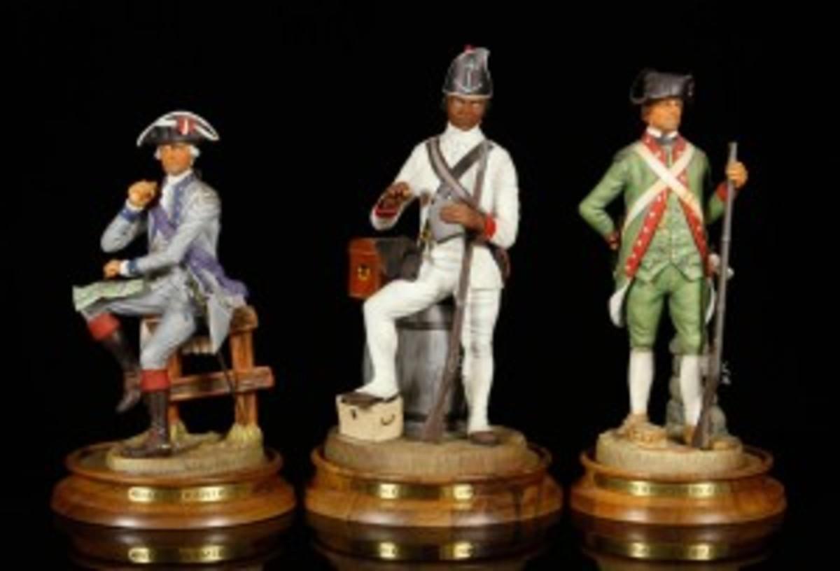 Williamsburg porcelain soldiers