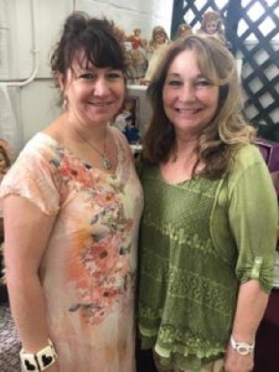 My Little Dolls co-founder Jennifer Moyer, left, lives in Pasadena, Maryland, while her mother, co-founder Cheryl Hoiler, lives in Virginia. Photo courtesy My Little Dolls