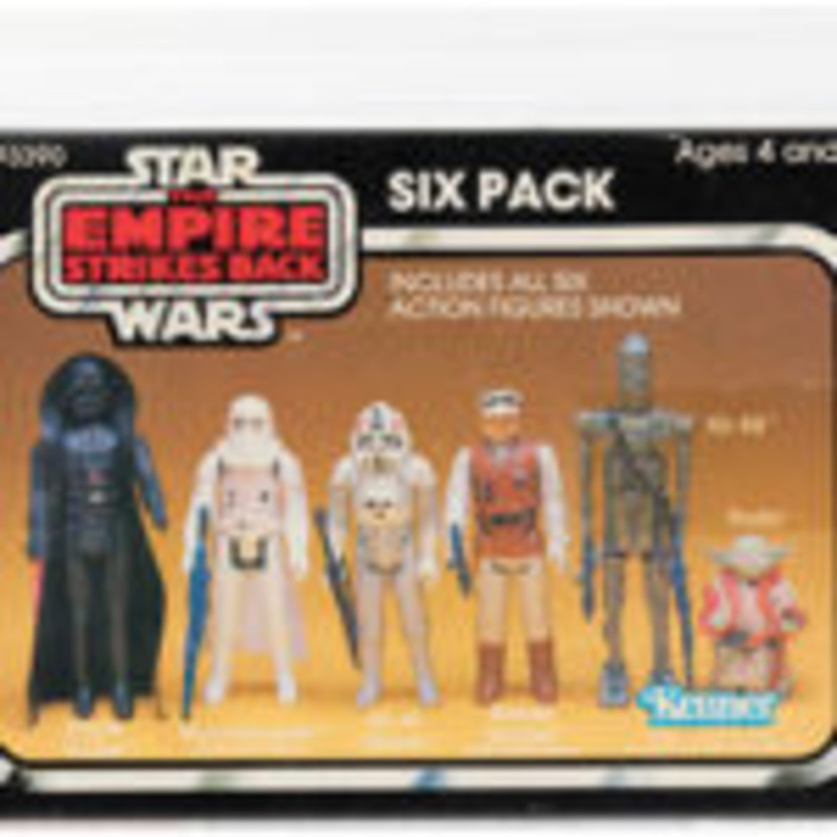 """Star Wars: The Empire Strikes Back"" six-pack of 3.75-inch scaled figures, 1981. Provenance: Russell Branton. Sold for $28,556"