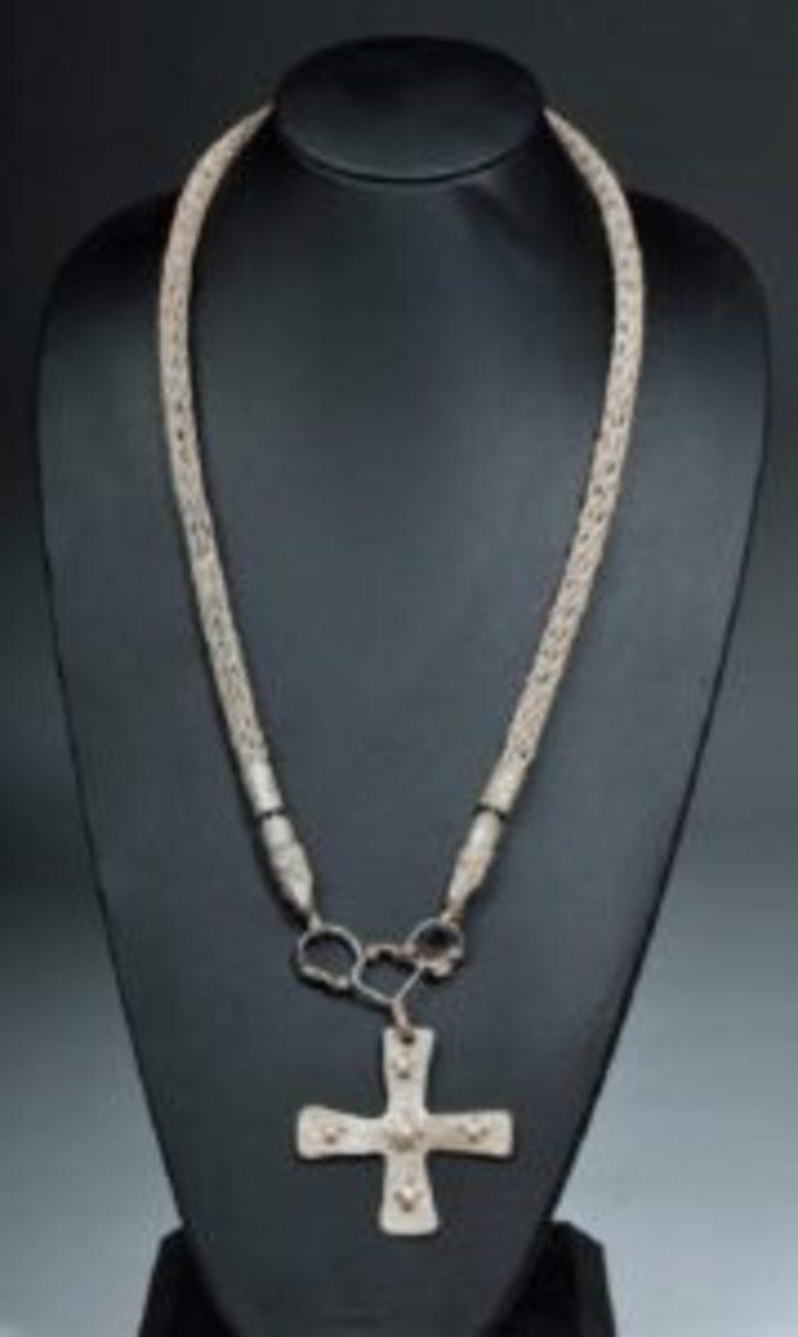 Viking cross and chain