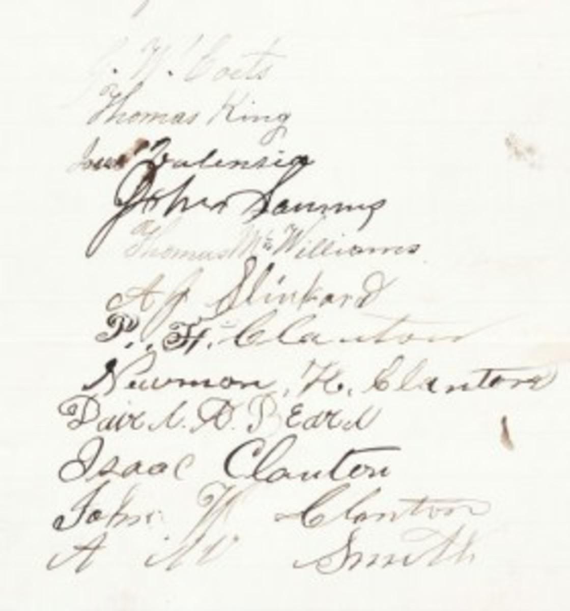 Clanton Clan signatures